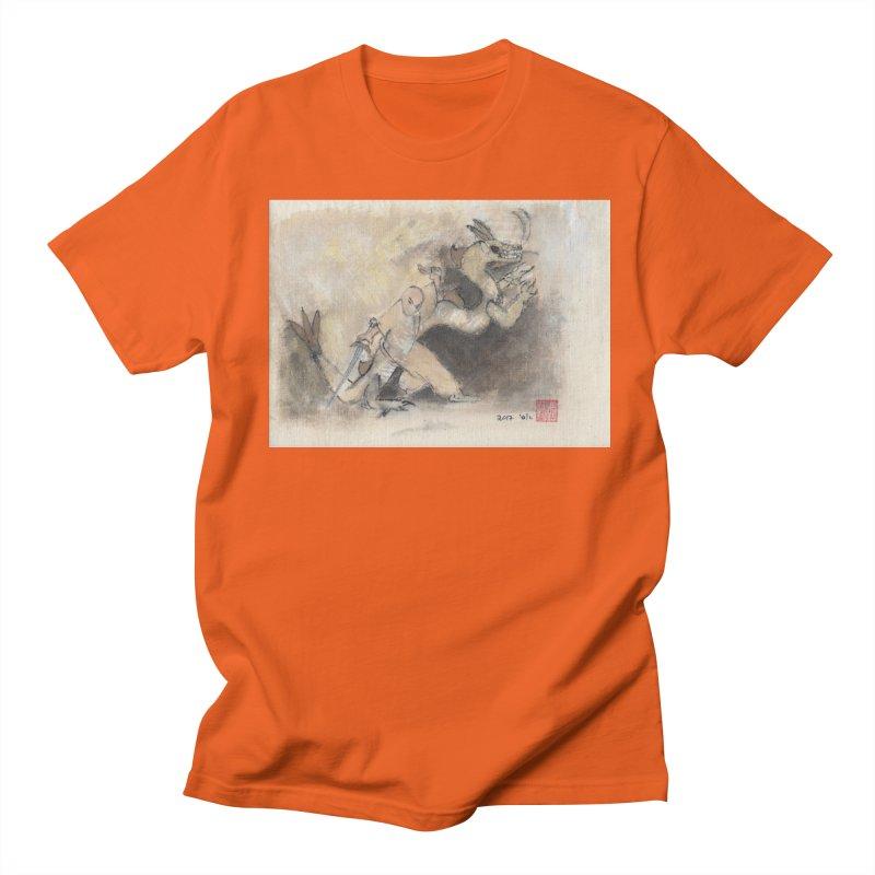 Black Dragon Wagging Tail Women's Unisex T-Shirt by arttaichi's Artist Shop