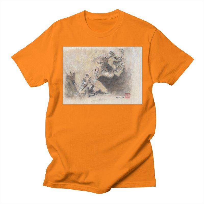 Black Dragon Wagging Tail Men's Regular T-Shirt by arttaichi's Artist Shop