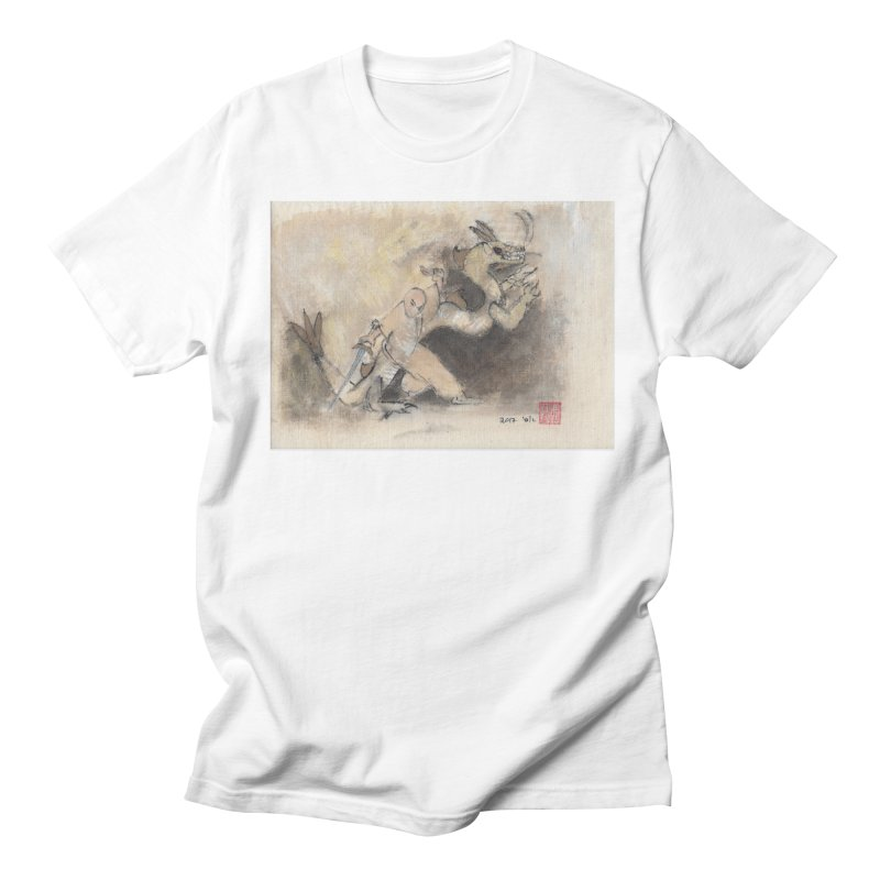 Black Dragon Wagging Tail Men's T-Shirt by arttaichi's Artist Shop