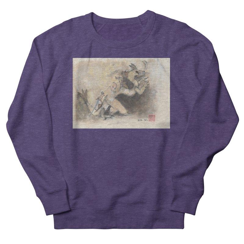Black Dragon Wagging Tail Women's French Terry Sweatshirt by arttaichi's Artist Shop