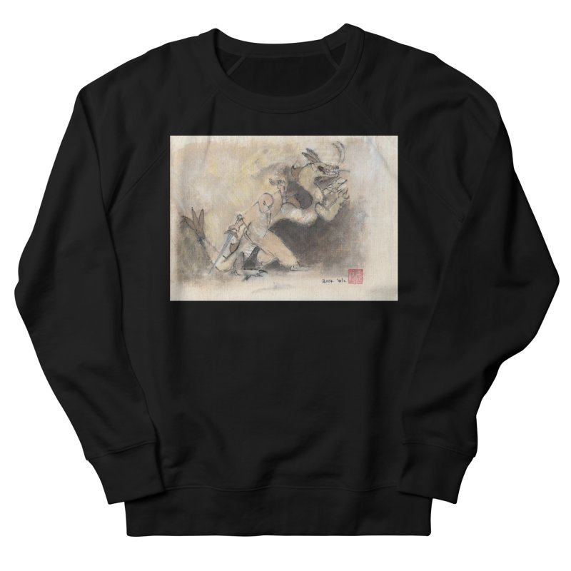 Black Dragon Wagging Tail Women's Sweatshirt by arttaichi's Artist Shop