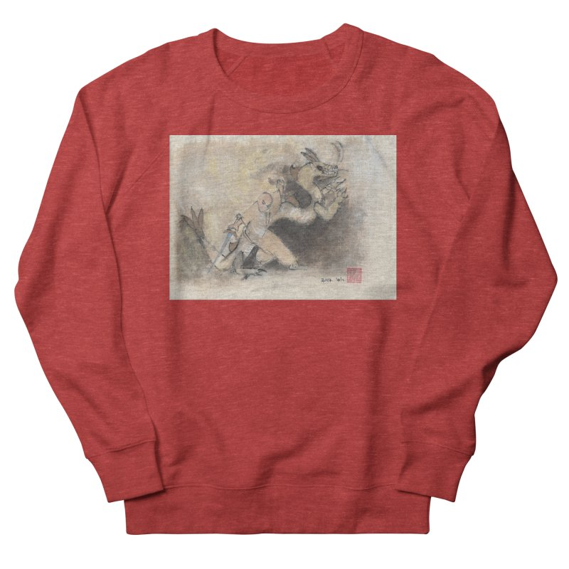 Black Dragon Wagging Tail Men's Sweatshirt by arttaichi's Artist Shop