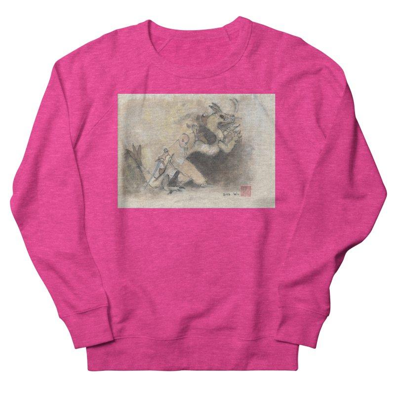 Black Dragon Wagging Tail Men's French Terry Sweatshirt by arttaichi's Artist Shop