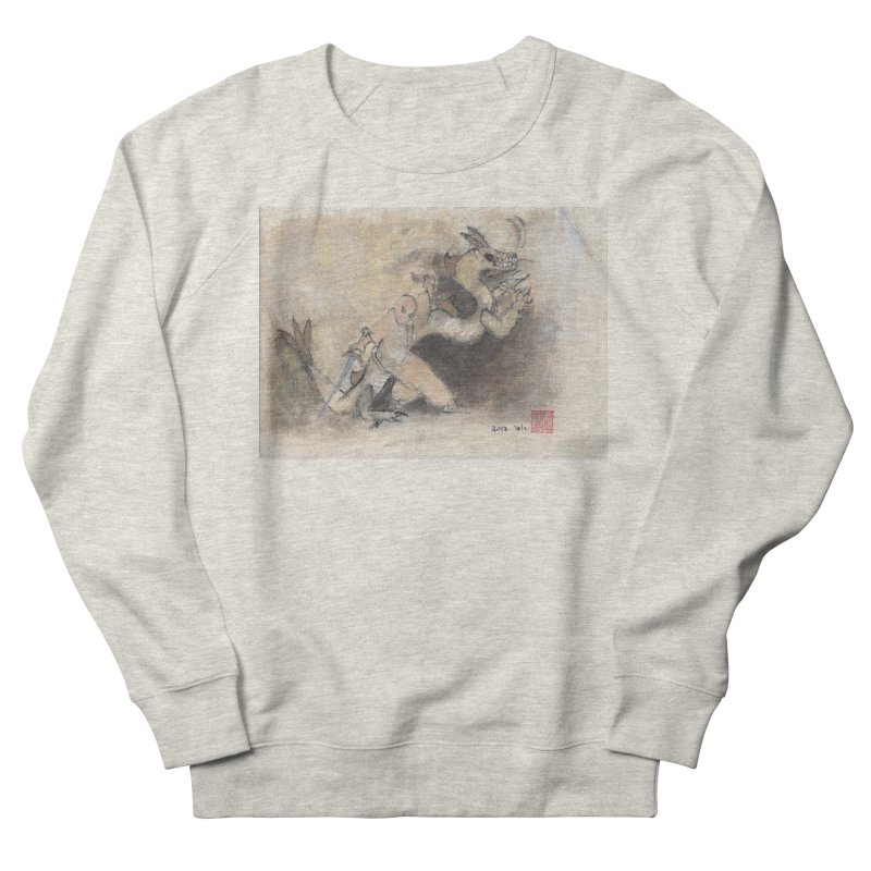 Black Dragon Wagging Tail Men's French Terry Sweatshirt by arttaichi's Artist Shop