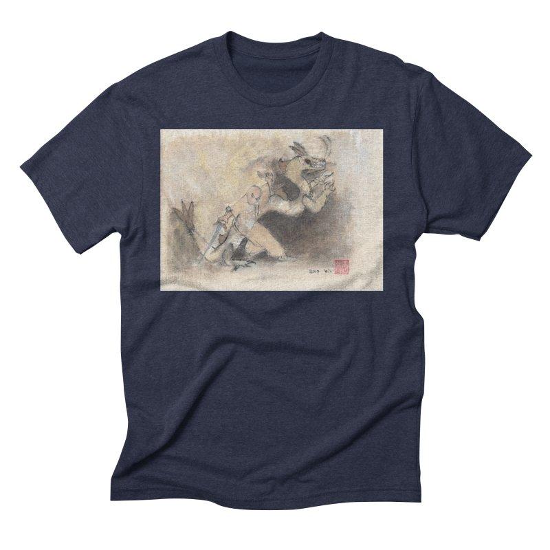 Black Dragon Wagging Tail Men's Triblend T-Shirt by arttaichi's Artist Shop