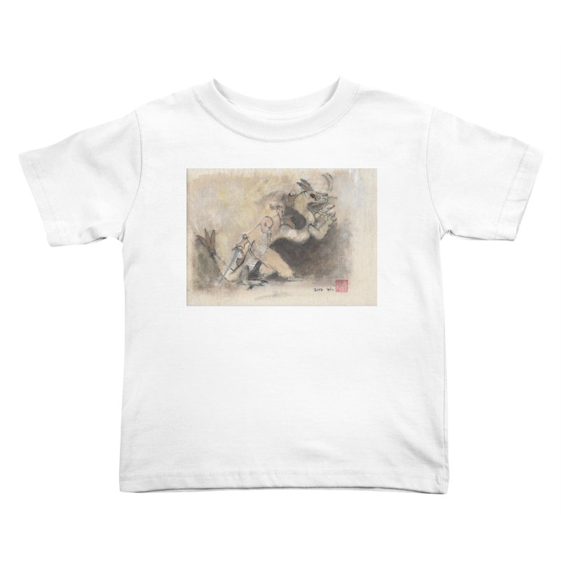 Black Dragon Wagging Tail Kids Toddler T-Shirt by arttaichi's Artist Shop
