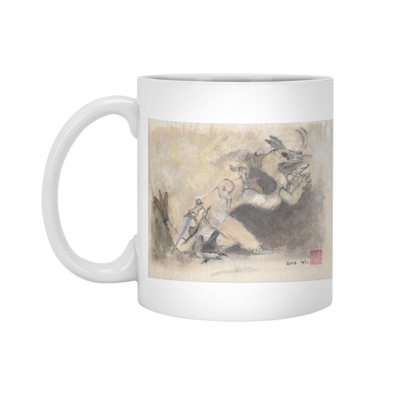 Black Dragon Wagging Tail Accessories Mug by arttaichi's Artist Shop