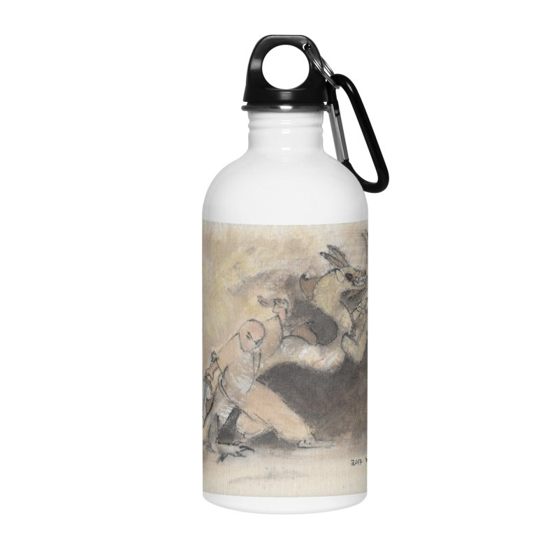 Black Dragon Wagging Tail Accessories Water Bottle by arttaichi's Artist Shop