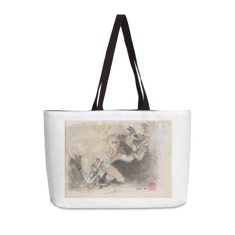 Black Dragon Wagging Tail Accessories Weekender Bag Bag by arttaichi's Artist Shop