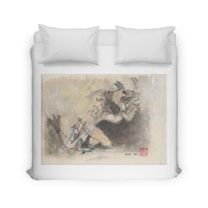 Black Dragon Wagging Tail Home Duvet by arttaichi's Artist Shop