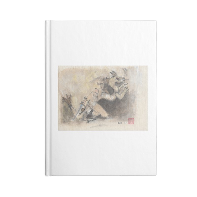 Black Dragon Wagging Tail Accessories Lined Journal Notebook by arttaichi's Artist Shop