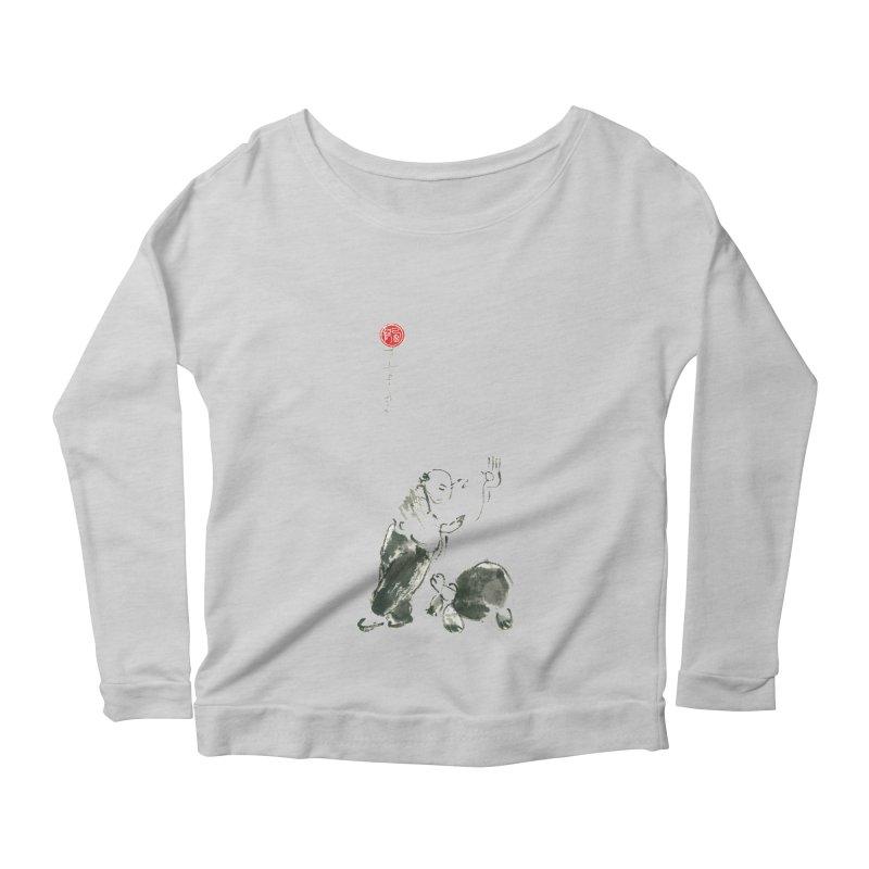 Pa Kua Guard Posture Women's Scoop Neck Longsleeve T-Shirt by arttaichi's Artist Shop