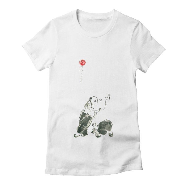 Pa Kua Guard Posture Women's Fitted T-Shirt by arttaichi's Artist Shop