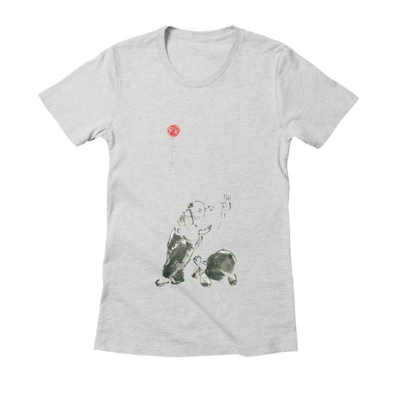 Pa Kua Guard Posture Women's Fitted T-Shirt by arttaichi's Artist Shop