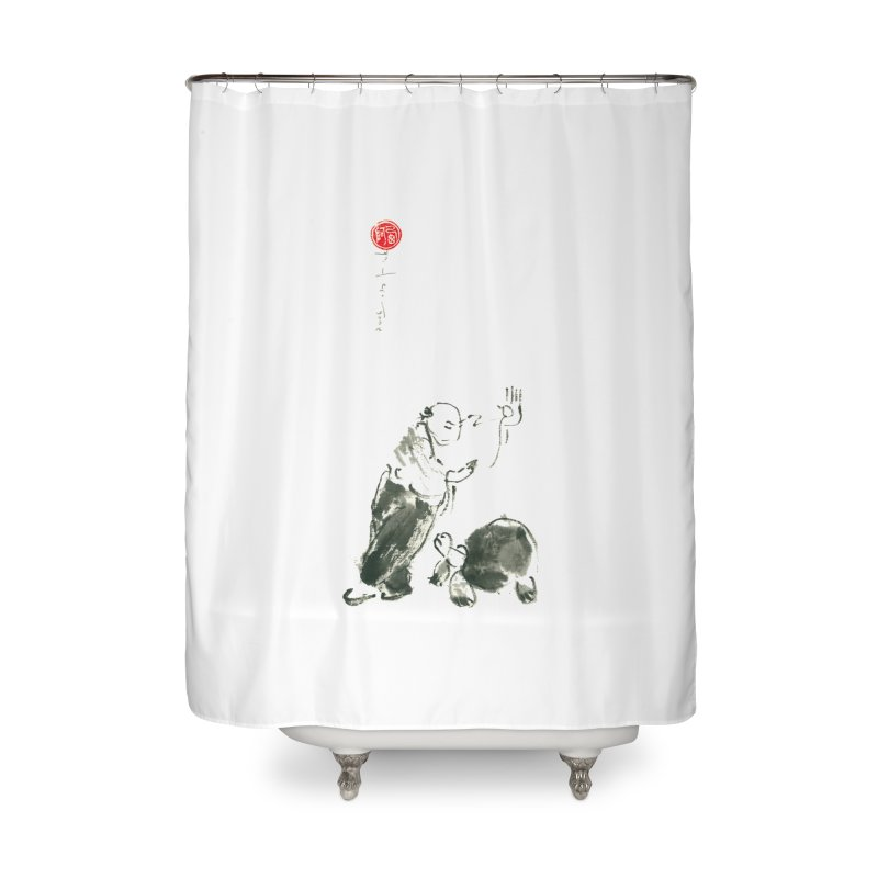 Pa Kua Guard Posture Home Shower Curtain by arttaichi's Artist Shop