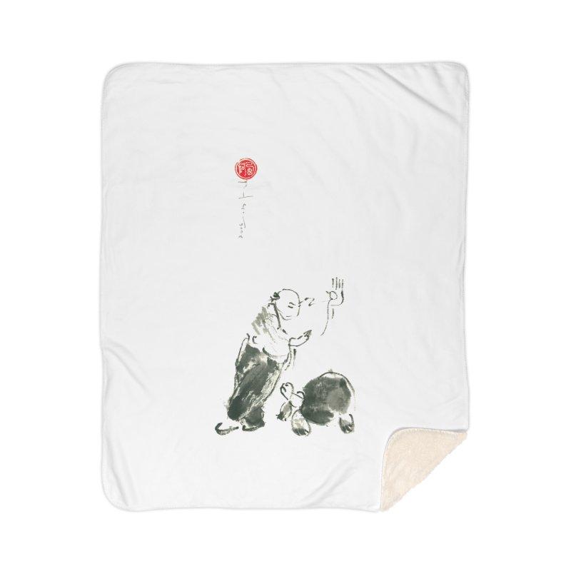 Pa Kua Guard Posture Home Sherpa Blanket Blanket by arttaichi's Artist Shop