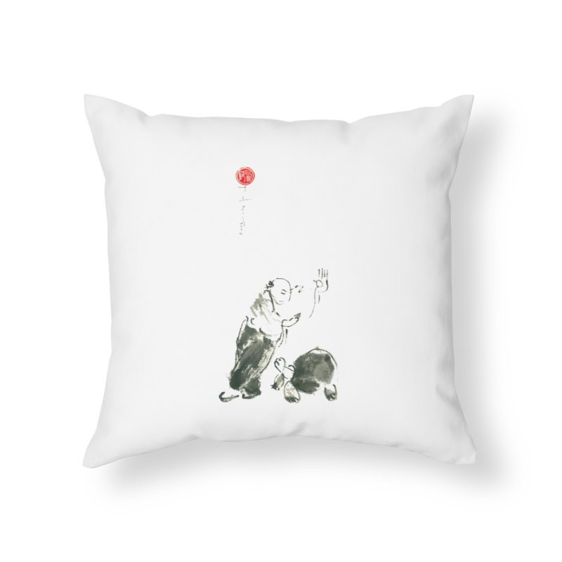 Pa Kua Guard Posture Home Throw Pillow by arttaichi's Artist Shop