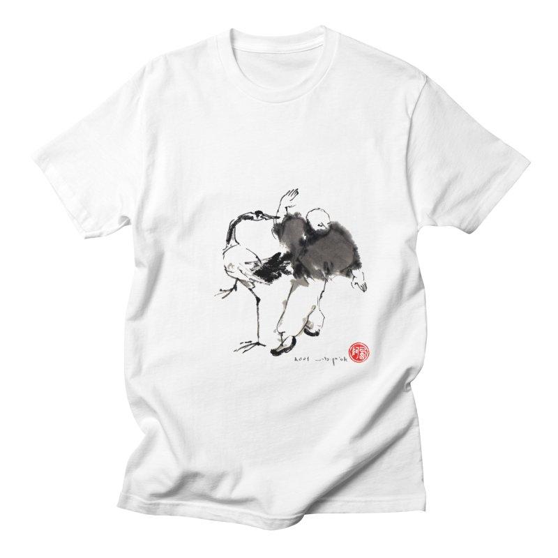 White Crane Spreading Wings Women's T-Shirt by arttaichi's Artist Shop