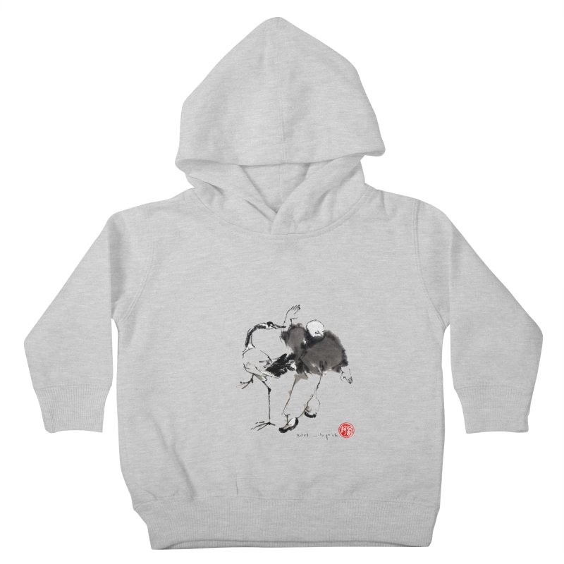 White Crane Spreading Wings Kids Toddler Pullover Hoody by arttaichi's Artist Shop