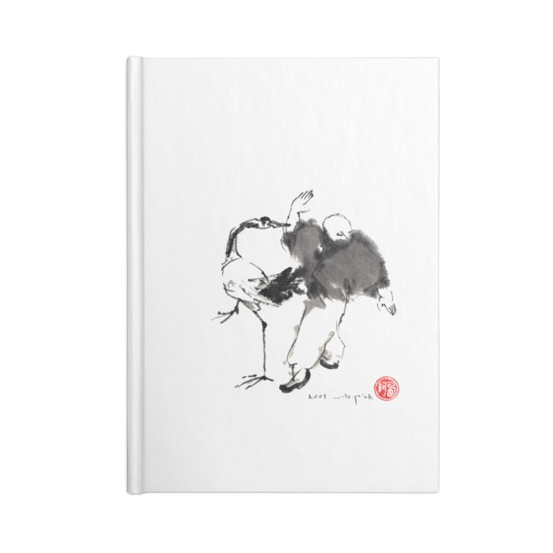 White Crane Spreading Wings Accessories Lined Journal Notebook by arttaichi's Artist Shop
