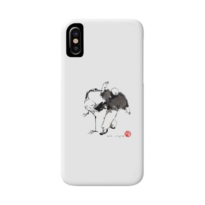 White Crane Spreading Wings Accessories Phone Case by arttaichi's Artist Shop