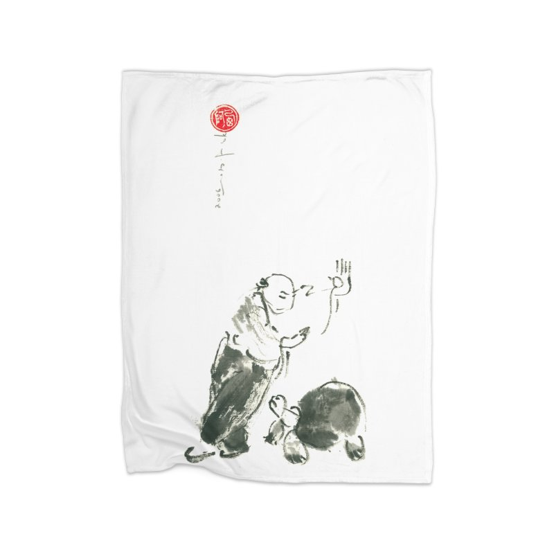 A Pa Kua Art Image. Guard Posture and Turtle Home Blanket by arttaichi's Artist Shop