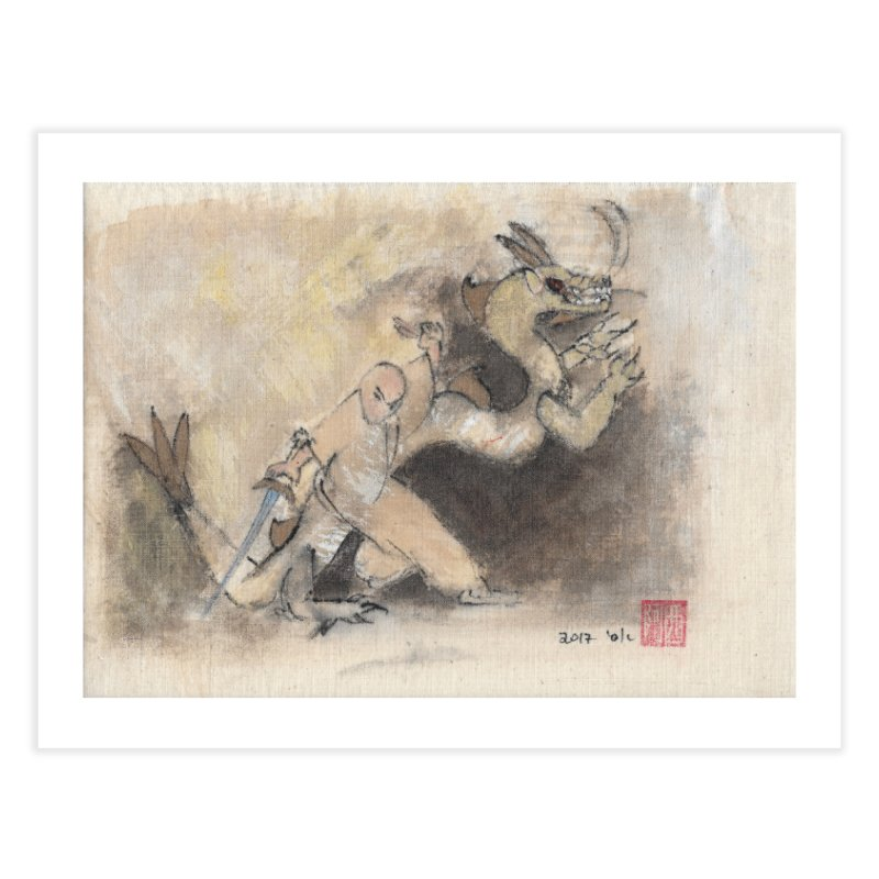 Tai Chi Sword Art Image. Black Dragon Wagging Tail Home Fine Art Print by arttaichi's Artist Shop