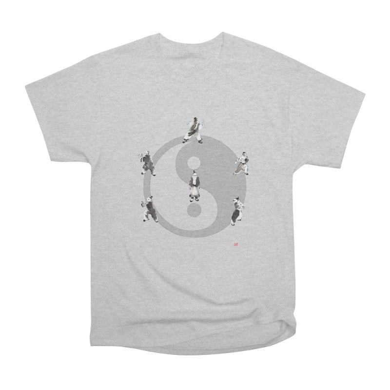 Yin Yang Tai Chi Art Image Men's Heavyweight T-Shirt by arttaichi's Artist Shop