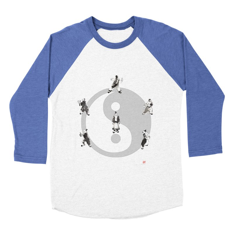 Yin Yang Tai Chi Art Image Men's Baseball Triblend Longsleeve T-Shirt by arttaichi's Artist Shop