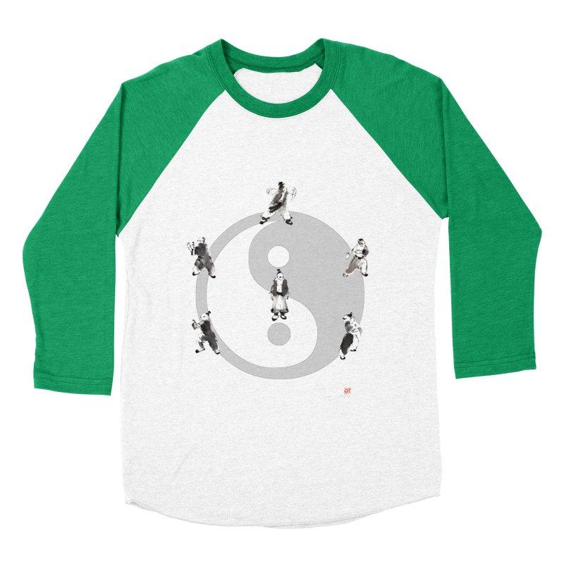 Yin Yang Tai Chi Art Image Men's Baseball Triblend T-Shirt by arttaichi's Artist Shop