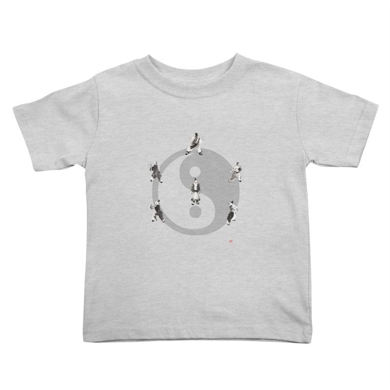 Yin Yang Tai Chi Art Image Kids Toddler T-Shirt by arttaichi's Artist Shop