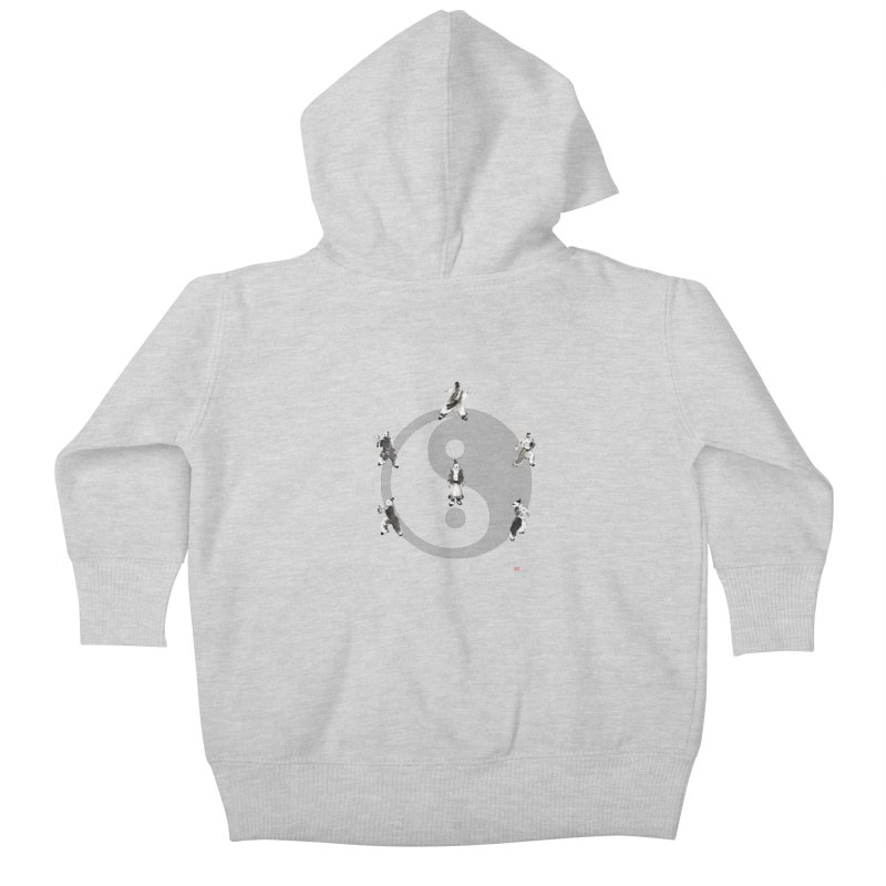 Yin Yang Tai Chi Art Image Kids Baby Zip-Up Hoody by arttaichi's Artist Shop