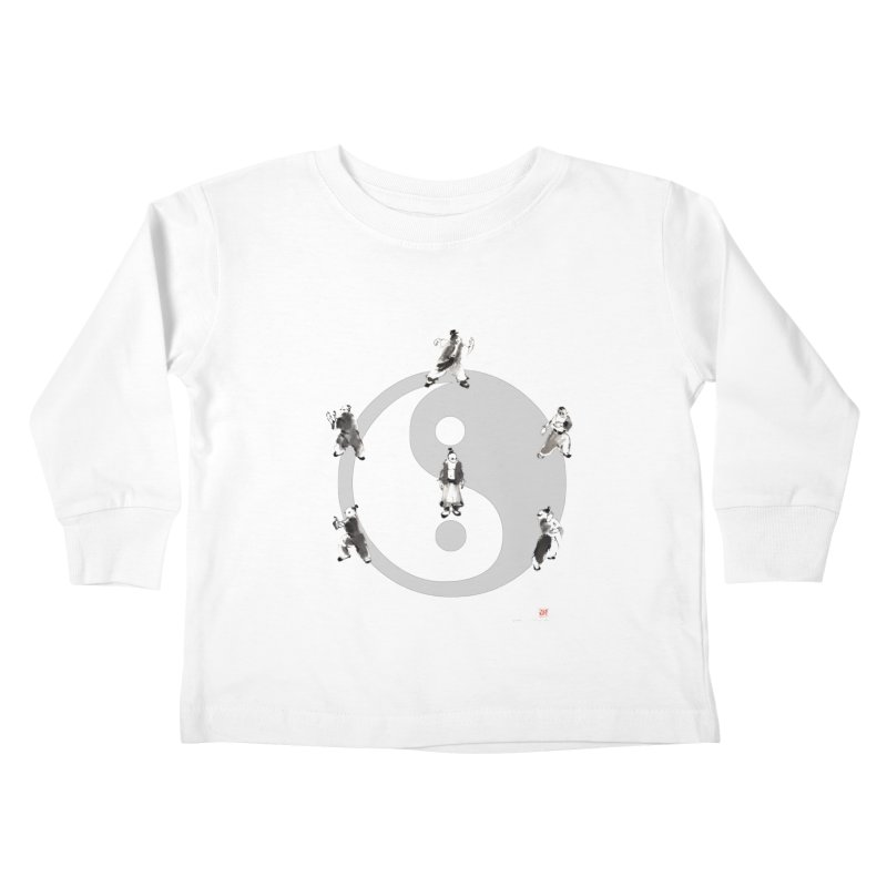 Yin Yang Tai Chi Art Image Kids Toddler Longsleeve T-Shirt by arttaichi's Artist Shop