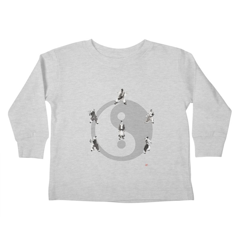 Yin Yang Tai Chi Art Image Kids Toddler Longsleeve T-Shirt by arttaichi's Artist Shop