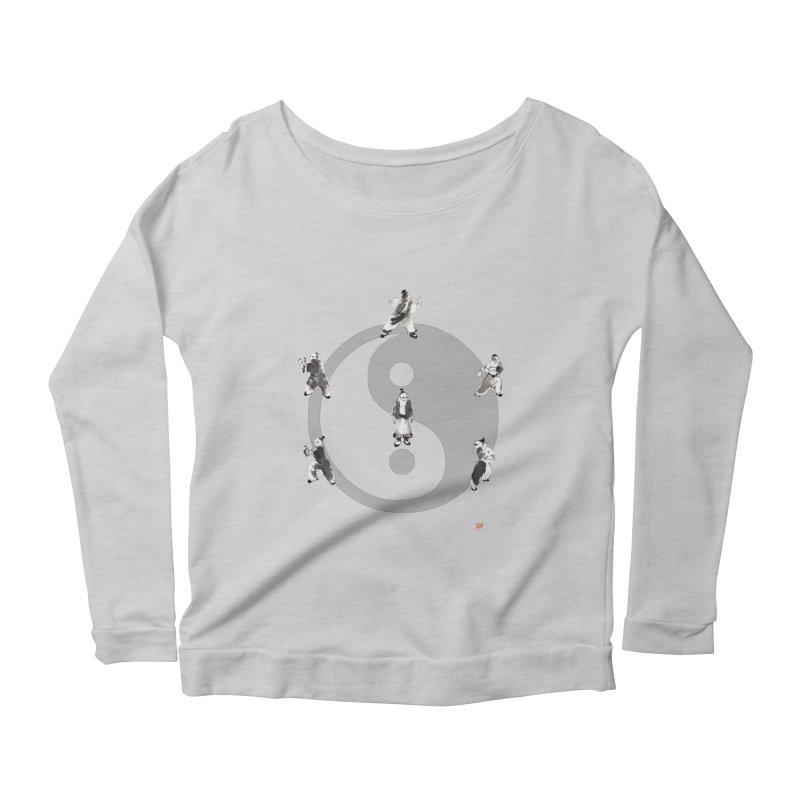 Yin Yang Tai Chi Art Image Women's Scoop Neck Longsleeve T-Shirt by arttaichi's Artist Shop