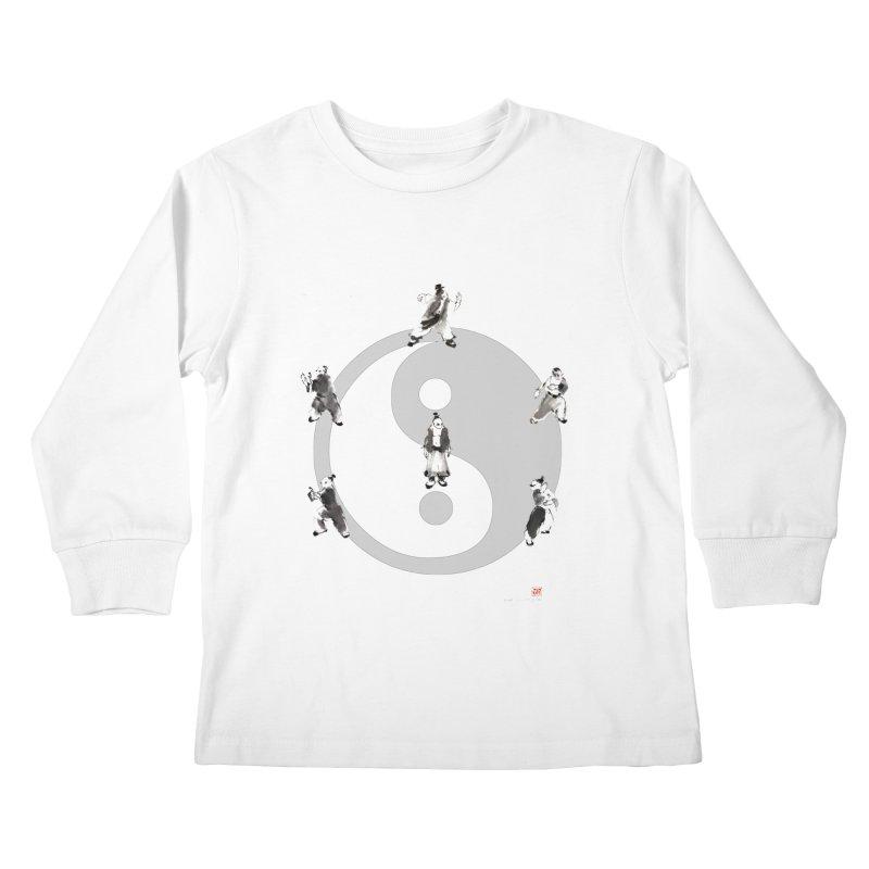 Yin Yang Tai Chi Art Image Kids Longsleeve T-Shirt by arttaichi's Artist Shop