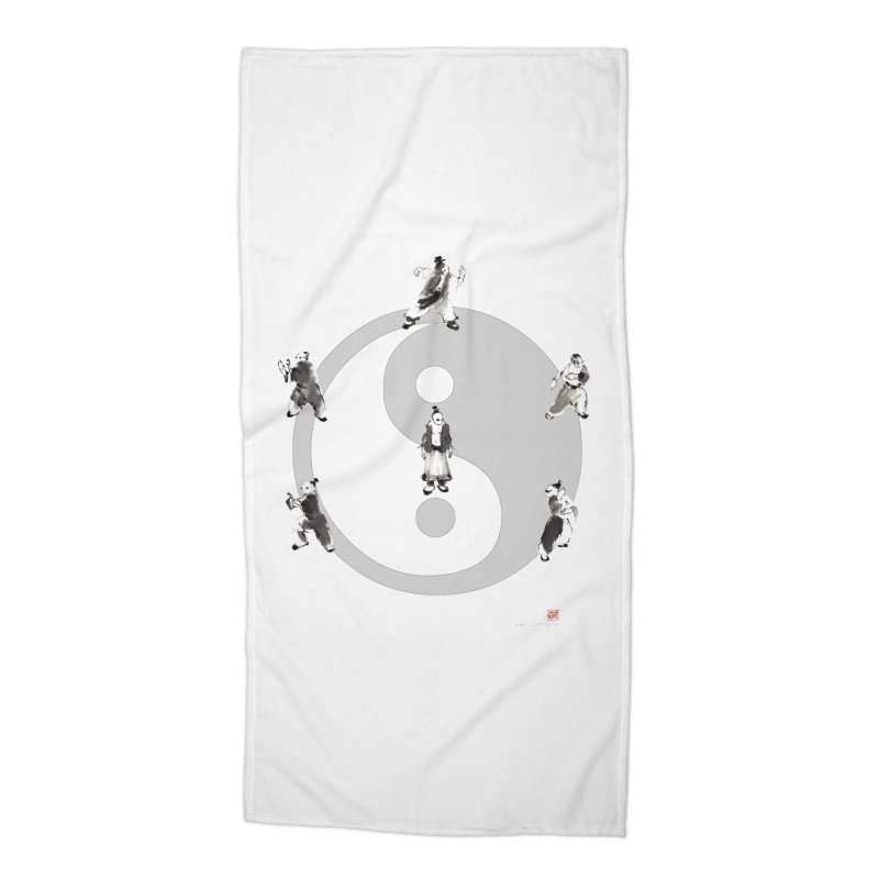 Yin Yang Tai Chi Art Image Accessories Beach Towel by arttaichi's Artist Shop