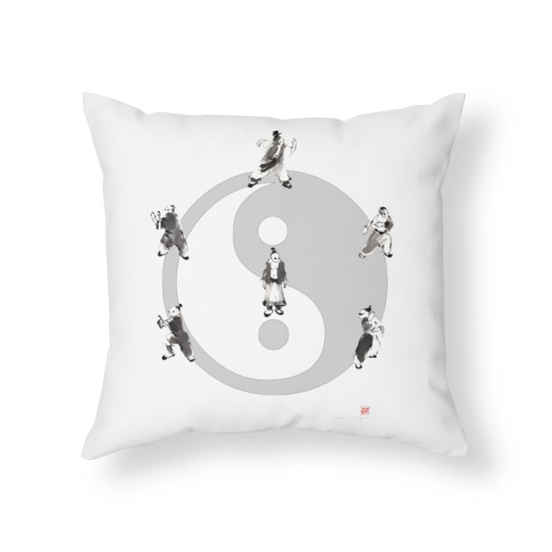 Yin Yang Tai Chi Art Image Home Throw Pillow by arttaichi's Artist Shop
