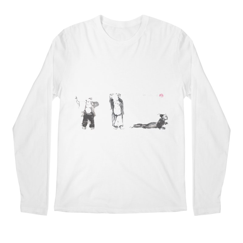 Chi Kung and Yoga Postures Men's Regular Longsleeve T-Shirt by arttaichi's Artist Shop