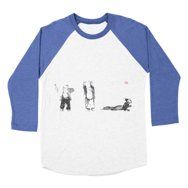 Chi Kung and Yoga Postures Women's Baseball Triblend Longsleeve T-Shirt by arttaichi's Artist Shop