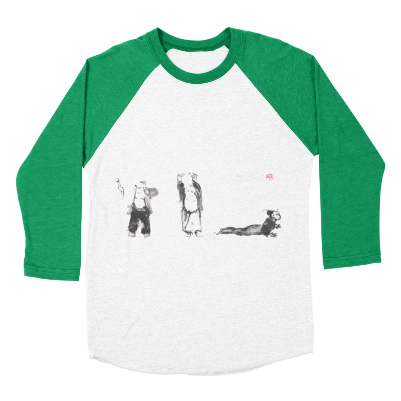 Chi Kung and Yoga Postures Women's Baseball Triblend T-Shirt by arttaichi's Artist Shop
