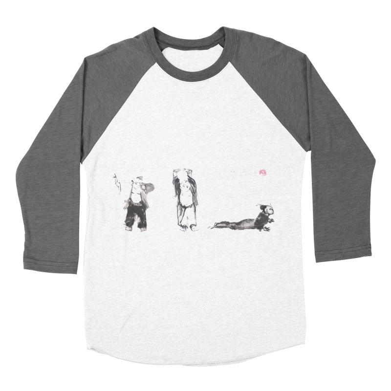 Chi Kung and Yoga Postures Men's Baseball Triblend T-Shirt by arttaichi's Artist Shop