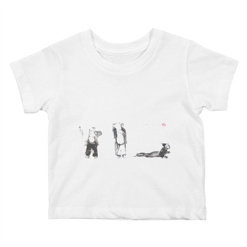 Chi Kung and Yoga Postures Kids Baby T-Shirt by arttaichi's Artist Shop