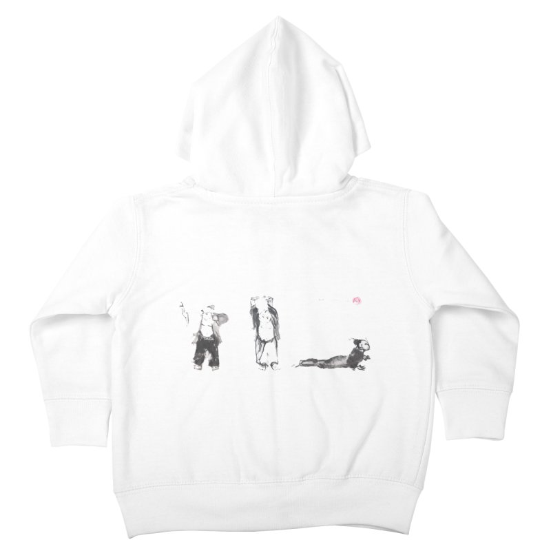 Chi Kung and Yoga Postures Kids Toddler Zip-Up Hoody by arttaichi's Artist Shop