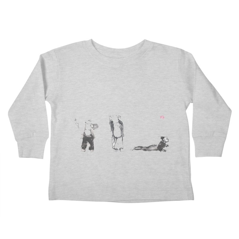 Chi Kung and Yoga Postures Kids Toddler Longsleeve T-Shirt by arttaichi's Artist Shop