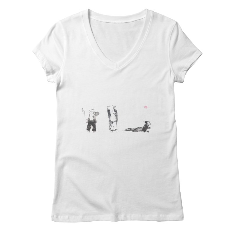 Chi Kung and Yoga Postures Women's V-Neck by arttaichi's Artist Shop