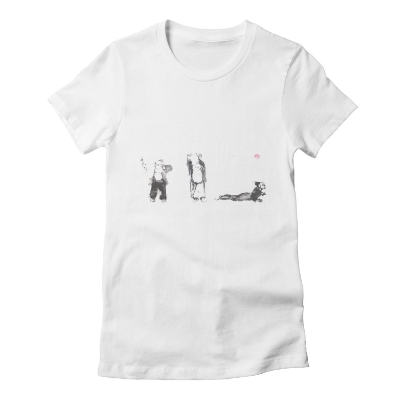 Chi Kung and Yoga Postures Women's Fitted T-Shirt by arttaichi's Artist Shop