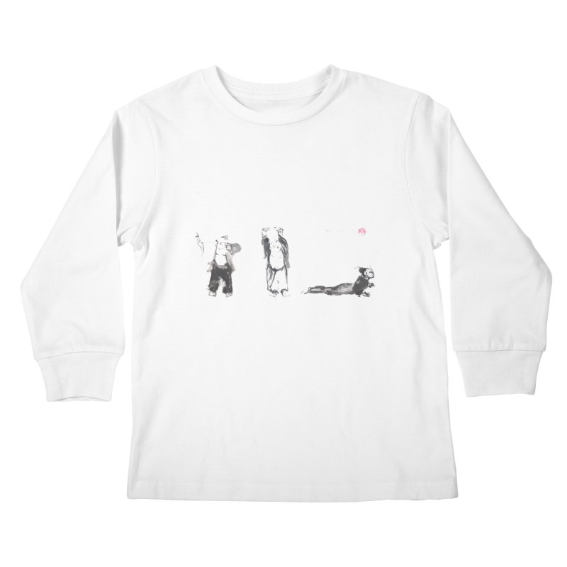 Chi Kung and Yoga Postures Kids Longsleeve T-Shirt by arttaichi's Artist Shop