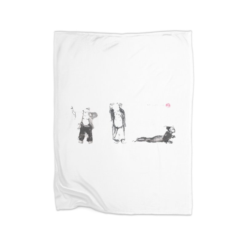 Chi Kung and Yoga Postures Home Blanket by arttaichi's Artist Shop