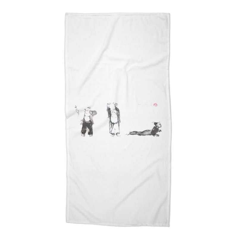 Chi Kung and Yoga Postures Accessories Beach Towel by arttaichi's Artist Shop